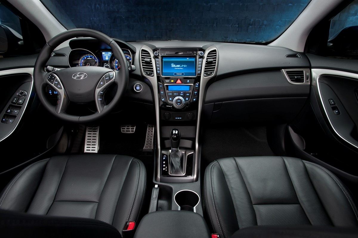 2014 Hyundai Elantra GT Hatchback Interior Pictures Black